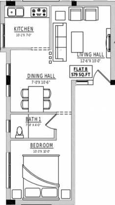 Rahul Agasthiya (1BHK+1T (579 sq ft) Apartment 579 sq ft)