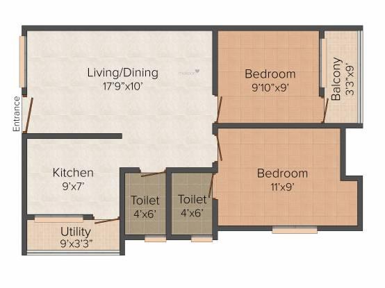 Rahul Amaravathy (2BHK+2T (770 sq ft) Apartment 770 sq ft)