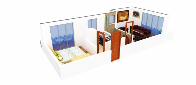 Dream Coral (1BHK+1T (705 sq ft) Apartment 705 sq ft)