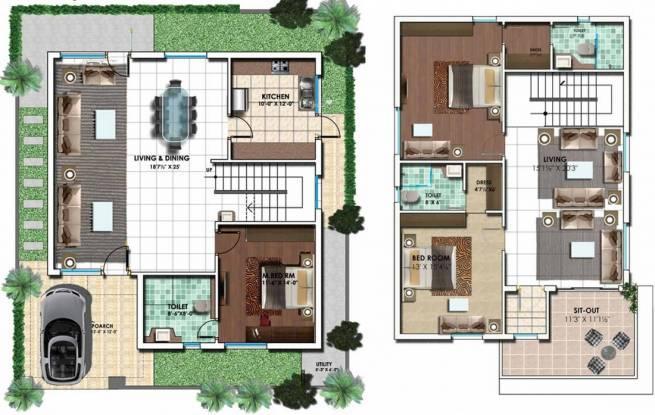Sri Ayodhya (3BHK+3T (2,894 sq ft) Villa 2894 sq ft)
