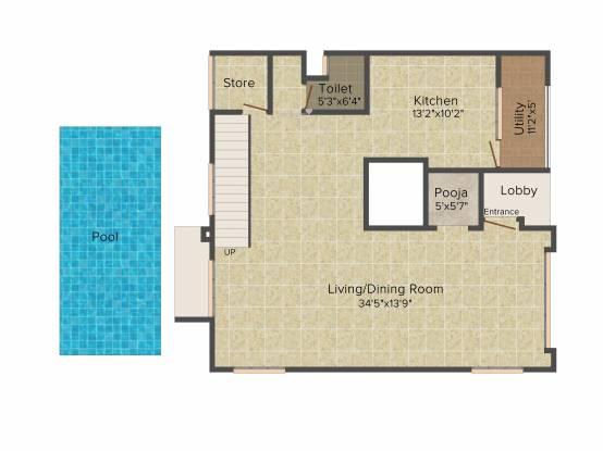 Godrej 17 (4BHK+5T (4,994 sq ft) + Servant Room Villa 4994 sq ft)