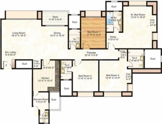 Hiranandani Meadows (4BHK+4T (2,645 sq ft) Apartment 2645 sq ft)