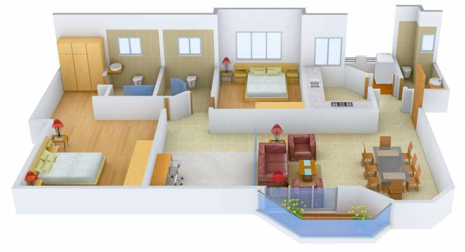 Jaypee The Star Court (2BHK+2T (1,461 sq ft) Apartment 1461 sq ft)