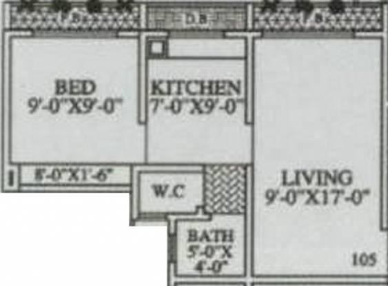 MAAD Nakoda Heights (1BHK+1T (545 sq ft) Apartment 545 sq ft)