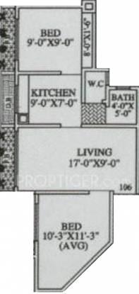 MAAD Nakoda Heights (2BHK+1T (835 sq ft) Apartment 835 sq ft)