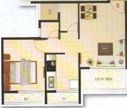 Aashish Shrushti Residency (1BHK+1T (650 sq ft) Apartment 650 sq ft)