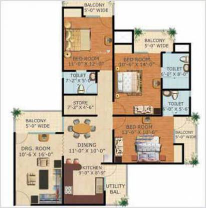 Sam Clement City (3BHK+3T (1,680 sq ft) Apartment 1680 sq ft)