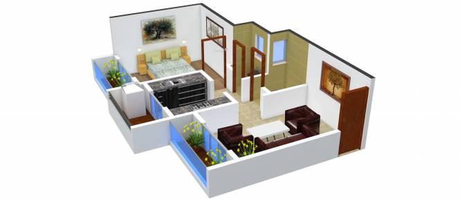 Rohan ZP Hills (1BHK+1T (646 sq ft) Apartment 646 sq ft)