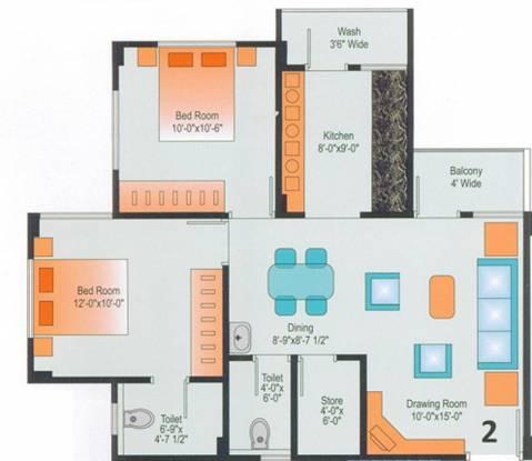 Devraj Residency (2BHK+2T (1,215 sq ft) Apartment 1215 sq ft)