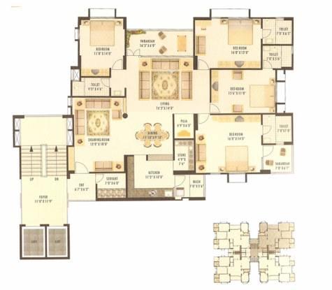 Sheladia Prayag Residency (4BHK+4T (3,150 sq ft) Apartment 3150 sq ft)
