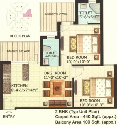 ROF Aalayas (2BHK+2T (540 sq ft) Apartment 540 sq ft)