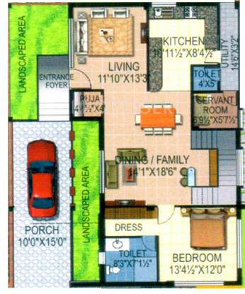 Pragati Green Meadows (3BHK+4T (2,400 sq ft)   Servant Room Villa 2400 sq ft)