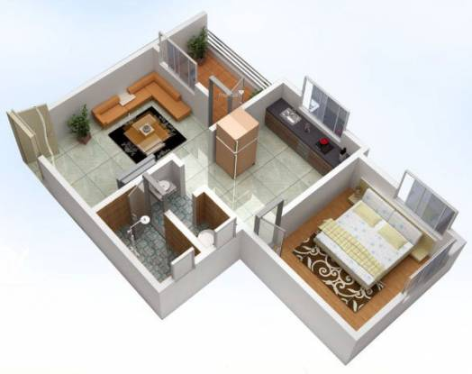 Ozone Westend (1BHK+1T (550 sq ft) Apartment 550 sq ft)