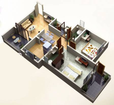Ozone Westend (2BHK+2T (860 sq ft) Apartment 860 sq ft)