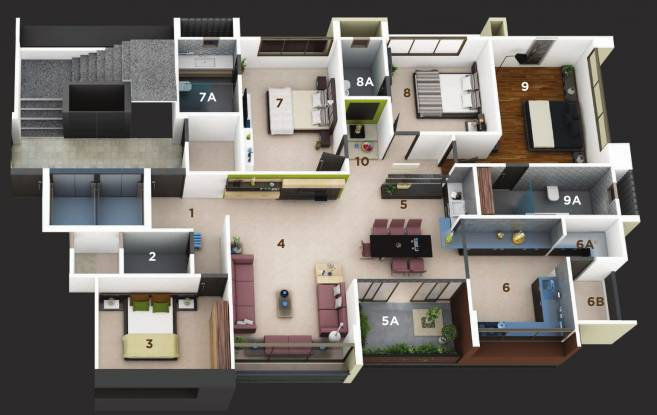 Straft Luxuria (4BHK+4T (3,150 sq ft) Apartment 3150 sq ft)
