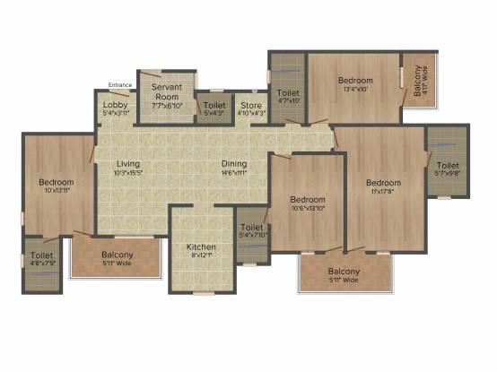 DLF Express Greens (4BHK+4T (2,230 sq ft) Apartment 2230 sq ft)