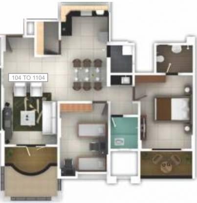 Pethkar Samrajya (2BHK+2T (1,187 sq ft) Apartment 1187 sq ft)