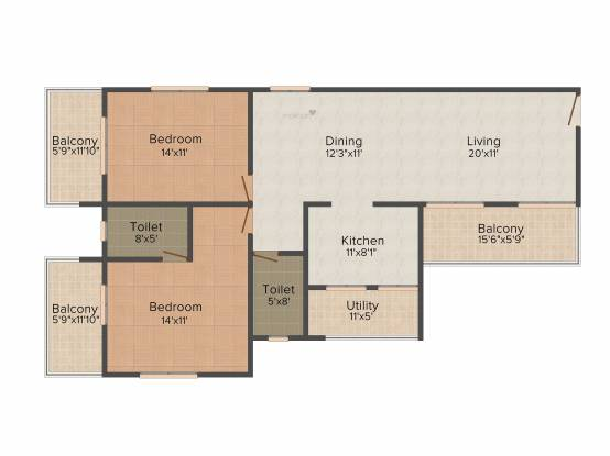 Northernsky Altair (2BHK+2T (1,250 sq ft) Apartment 1250 sq ft)