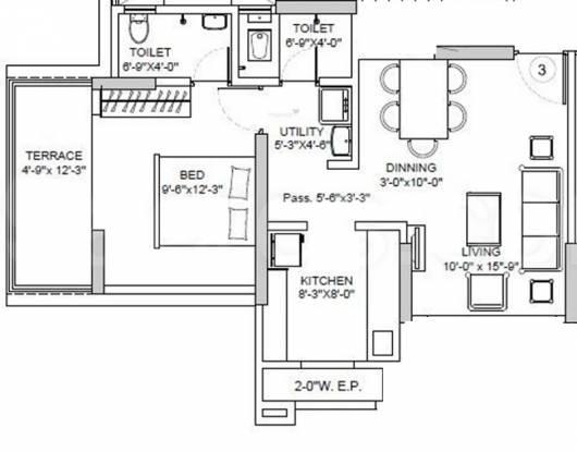 Abhilasha Madhuban (1BHK+2T (760 sq ft) Apartment 760 sq ft)