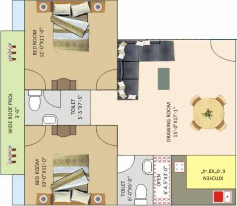 Ashoka Shri Sai Vatika (2BHK+2T (810 sq ft) Apartment 810 sq ft)
