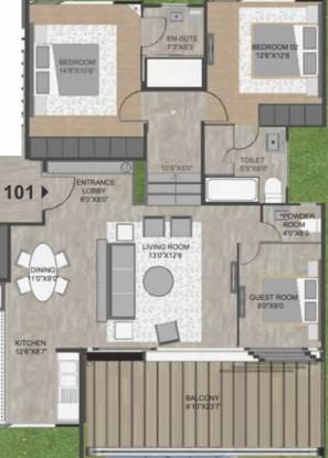 Rohan Leher 2 (3BHK+2T (1,561 sq ft) Apartment 1561 sq ft)