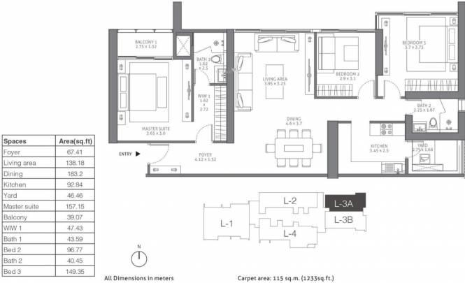 TATA 88 East (3BHK+2T (1,862 sq ft) Apartment 1862 sq ft)
