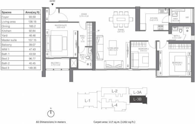 TATA 88 East (3BHK+2T (1,906 sq ft) Apartment 1906 sq ft)