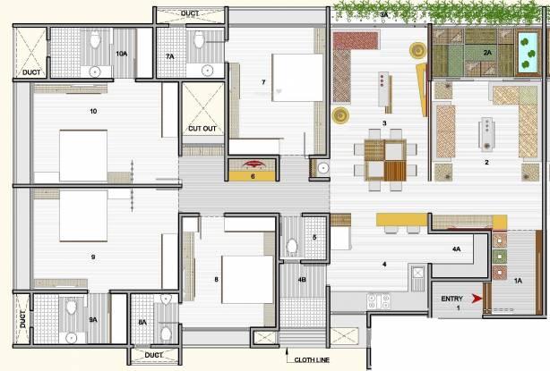 Sankalp Grace II (4BHK+4T (3,450 sq ft) Apartment 3450 sq ft)