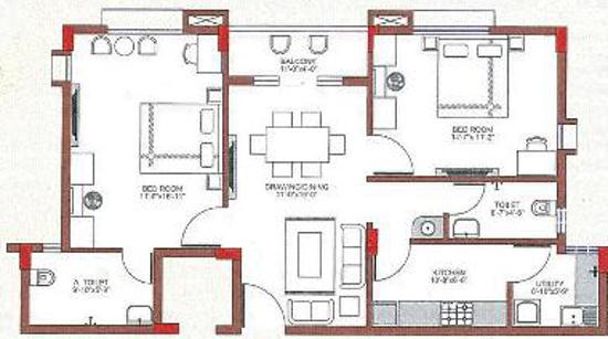 Dream Sai Ashraya (2BHK+2T (1,220 sq ft) Apartment 1220 sq ft)