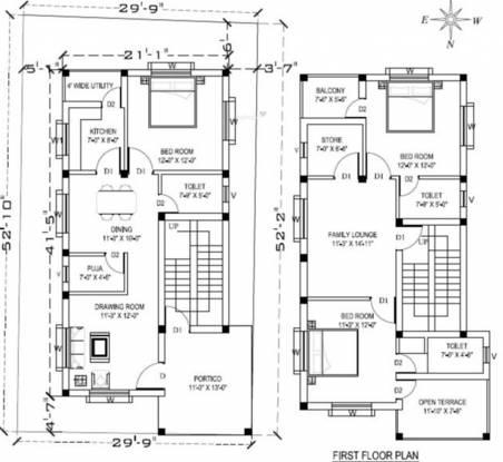 Jagdish Villa (3BHK+3T (2,000 sq ft) + Pooja Room Villa 2000 sq ft)