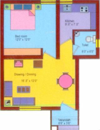 Krishna Puri (1BHK+1T (550 sq ft) Apartment 550 sq ft)