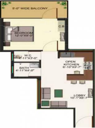 HCBS Sports Ville (1BHK+1T (478 sq ft) Apartment 478 sq ft)