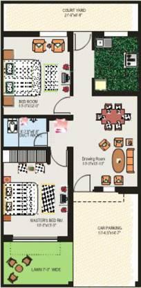 Alliance South City (2BHK+1T (666 sq ft) Villa 666 sq ft)