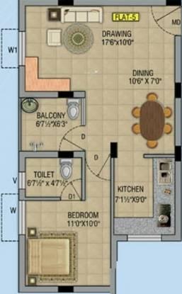 RR Sai Apartment (1BHK+1T (725 sq ft) Apartment 725 sq ft)