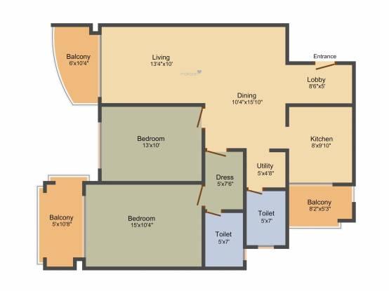 Comfort Arizona (2BHK+2T (1,400 sq ft) Apartment 1400 sq ft)