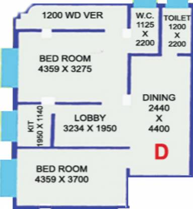 MB Tower (2BHK+1T (935 sq ft) Apartment 935 sq ft)