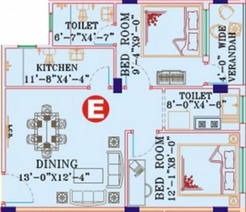 B G Biswanath Abasan (2BHK+2T (796 sq ft) Apartment 796 sq ft)