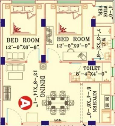 B G Biswanath Abasan (2BHK+1T (865 sq ft) Apartment 865 sq ft)