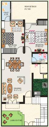 Alliance South City (2BHK+2T (850 sq ft) Villa 850 sq ft)