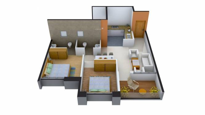 Magnus Simpli City Phase II (2BHK+2T (920 sq ft) Apartment 920 sq ft)
