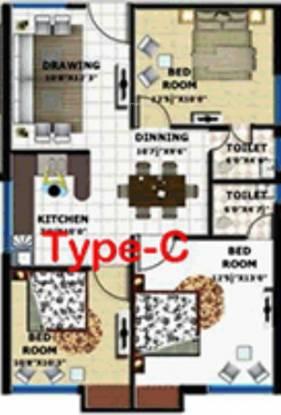 G C Signature (3BHK+2T (1,415 sq ft) Apartment 1415 sq ft)