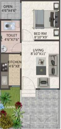 Fortune Greenshire (1BHK+1T (420 sq ft) Villa 420 sq ft)