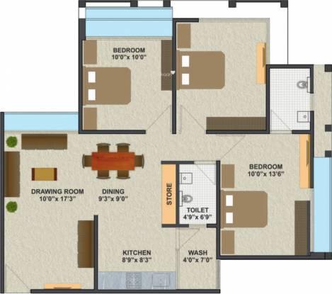 A Shridhar Kaveri Pratham (3BHK+2T (1,200 sq ft) Apartment 1200 sq ft)