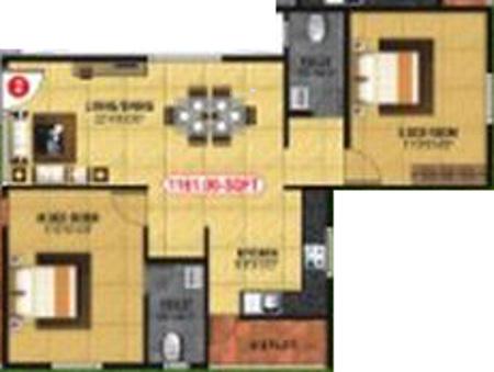 Navya Nidhi (2BHK+2T (1,161 sq ft) Apartment 1161 sq ft)