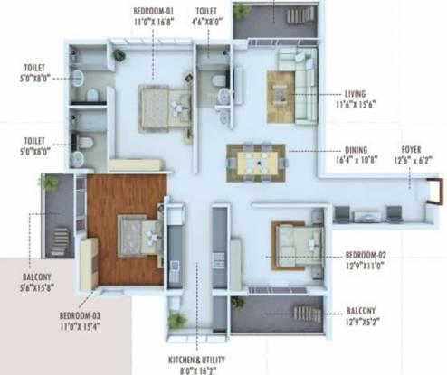 Karuna Unnathi (3BHK+3T (1,790 sq ft) Apartment 1790 sq ft)