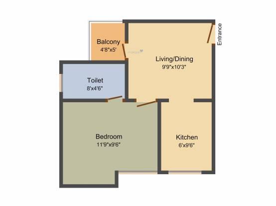 Sunway Green Hearth (1BHK+1T (512 sq ft) Apartment 512 sq ft)