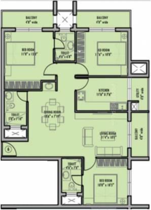 Karuna Fortuna (3BHK+3T (1,443 sq ft) Apartment 1443 sq ft)