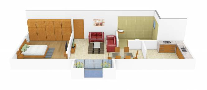 Red Village Phase I (1BHK+1T (480 sq ft) Apartment 480 sq ft)