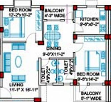 Jupiter Acrux Commanders Acropolis (2BHK+2T (1,170 sq ft) Apartment 1170 sq ft)