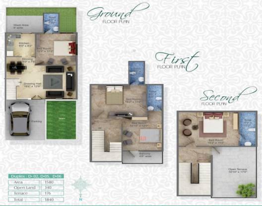 Gandhi Kaps Regency (4BHK+4T (1,840 sq ft) Villa 1840 sq ft)